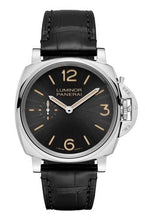 Load image into Gallery viewer, Authentic Panerai Luminor Due 42 3 Days Acciaio Black PAM 676 Watch