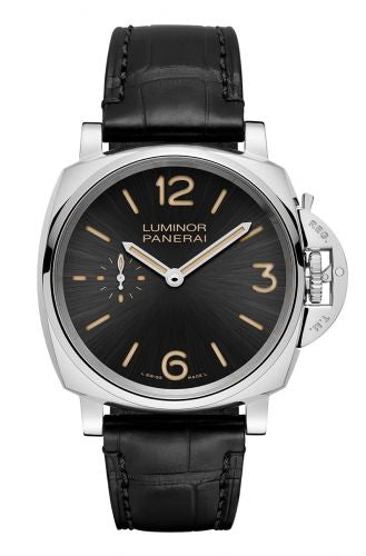 Authentic Panerai Luminor Due 42 3 Days Acciaio Black PAM 676 Watch