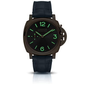 Panerai PAM677 grey dial, sunburst finish, mixed indexes, stick hands, night indicator