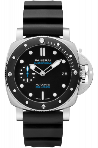Authentic Panerai Submersible 3 Days Automatic Acciaio 42 Black Ceramic PAM 683 Watch