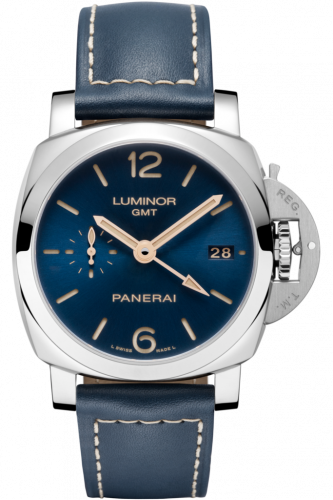 Authentic Panerai Luminor 1950 3 Days GMT Automatic Acciaio 42mm Boutique Blue PAM 680 Limited Edition Watch