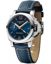 Load image into Gallery viewer, Buy Sell Panerai Luminor 1950 3 Days GMT Automatic Acciaio Boutique Blue PAM 680 Limited Edition Watch at Time Galaxy Malaysia