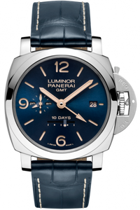 Panerai Luminor 1950 10 Days GMT Acciaio Boutique Blue PAM 689 Limited Edition Watch