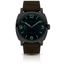 Load image into Gallery viewer, Panerai PAM690 blue dial, mixed indexes, stick hands, night indicator