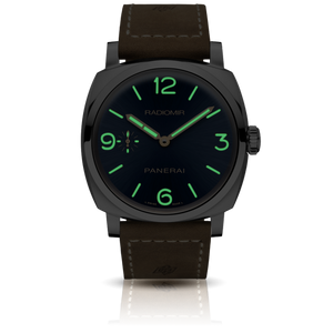 Panerai PAM690 blue dial, mixed indexes, stick hands, night indicator
