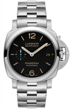 Load image into Gallery viewer, Authentic Panerai Luminor 1950 Marina 3 Days Automatic Acciaio 42mm Bracelet PAM 722 Watch