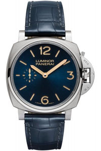 Authentic Panerai Luminor Due 42 3 Days Titanio Blue PAM 728 Watch