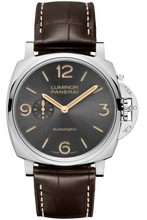 Load image into Gallery viewer, Authentic Panerai Luminor Due 45 3 Days Automatic Acciaio Anthracite PAM 739 Watch