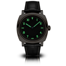Load image into Gallery viewer, Panerai PAM740 black dial, mixed indexes, stick hands, night indicator