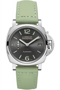 Authentic Panerai Luminor Due 38 Automatic Acciaio Anthracite PAM 755 Watch