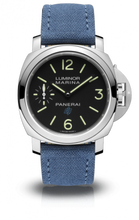 Load image into Gallery viewer, Authentic Panerai Luminor Marina Blue Logo Bianco 3 Days Acciaio PAM 777 Watch