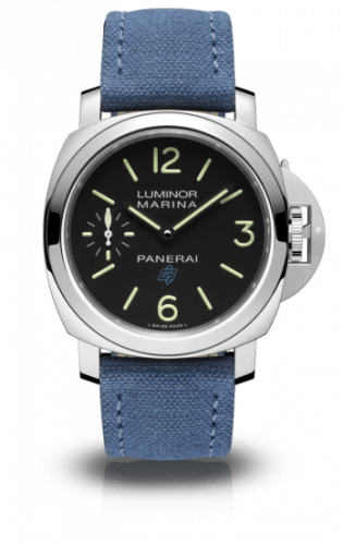 Authentic Panerai Luminor Marina Blue Logo Bianco 3 Days Acciaio PAM 777 Watch