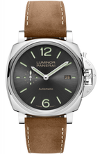 Load image into Gallery viewer, Authentic Panerai Luminor Due 42 3 Days Date Acciaio Anthracite PAM 904 Watch