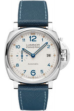 Load image into Gallery viewer, Authentic Panerai Luminor Due 42 3 Days Date Acciaio White PAM 906 Watch