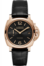 Load image into Gallery viewer, Authentic Panerai Luminor Due 38 Automatic Oro Rosso Black PAM 908 Watch