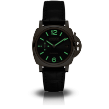 Load image into Gallery viewer, Buy Sell Panerai Luminor Due 38 Automatic Oro Rosso Black PAM 908 at Time Galaxy Watch