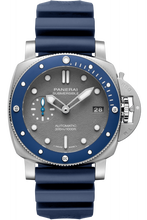 Load image into Gallery viewer, Authentic Panerai Submersible 3 Days Automatic Acciaio 42 Blue Ceramic Shark Grey PAM 959 Watch