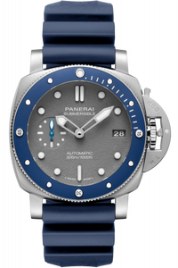 Authentic Panerai Submersible 3 Days Automatic Acciaio 42 Blue Ceramic Shark Grey PAM 959 Watch