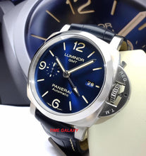 Load image into Gallery viewer, Panerai Luminor 1950 3 Days GMT Automatic Acciaio Blue PAM 1033