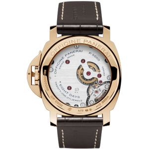 Model Pam511 brown dial, red gold material, sapphire glass