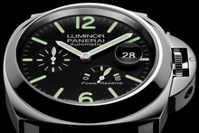 Load image into Gallery viewer, Panerai PAM1090 features black dial, date and power reserve indicator display