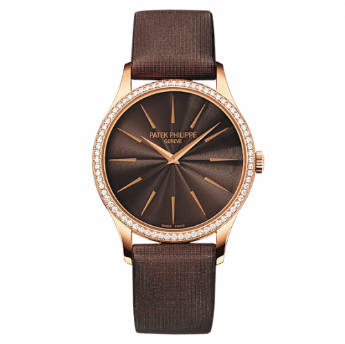 Brand New 100% Genuine PATEK PHILIPPE Calatrava Rose Gold Chocolate Brown 4897R-001 Watch