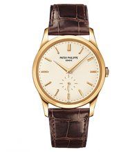 Load image into Gallery viewer, Brand New 100% Genuine PATEK PHILIPPE Calatrava Yellow Gold Silver 5196J-001 Watch