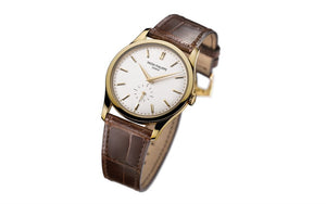 Brand New 100% Genuine PATEK PHILIPPE Calatrava Yellow Gold Silver 5196J-001 Watch