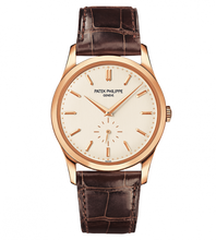Load image into Gallery viewer, Brand New 100% Genuine PATEK PHILIPPE Calatrava Rose Gold Silver 5196R-001 Watch
