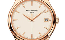 Load image into Gallery viewer, Brand New 100% Genuine PATEK PHILIPPE Calatrava Rose Goud Ivory 5227R-001 Watch