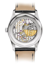 Load image into Gallery viewer, Patek Philippe 6006G-001 features hours, minutes, small seconds, date