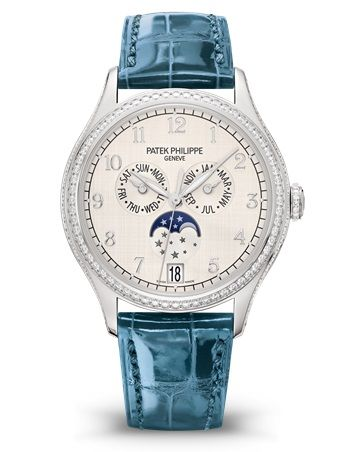 Patek Philippe Complications Annual Calendar White Gold Silver 4947G-010 Watch