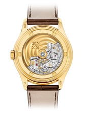 Load image into Gallery viewer, Patek Philippe 5146J-001 features power reserve indicator, moonphase and annual calendar