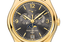 Load image into Gallery viewer, Brand New 100% Genuine PATEK PHILIPPE Annual Calendar Moonphase Yellow Gold Cream 5146J-010 Watch
