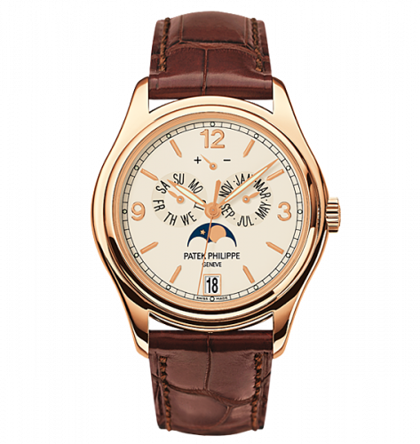 Brand New 100% Genuine PATEK PHILIPPE Annual Calendar Moonphase Rose Gold Cream 5146R-001 Watch