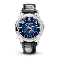 Load image into Gallery viewer, Patek Philippe Complications Annual Calendar 5205 White Gold Blue 5205G-013 Watch