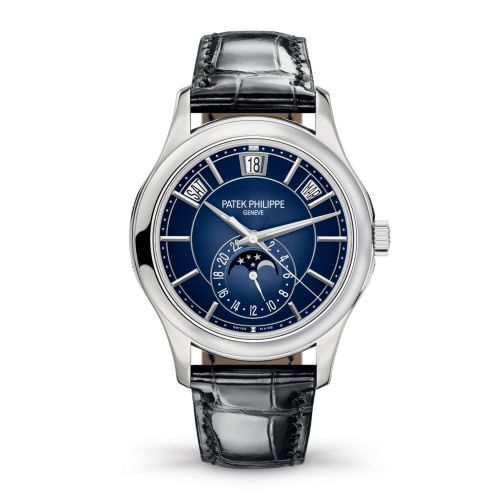 Patek Philippe Complications Annual Calendar 5205 White Gold Blue 5205G-013 Watch