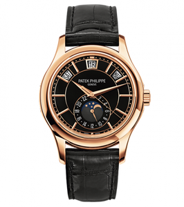 Brand New 100% Genuine PATEK PHILIPPE Complications Annual Calendar Rose Gold Black 5205R-010 Watch