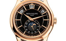 Load image into Gallery viewer, Brand New 100% Genuine PATEK PHILIPPE Complications Annual Calendar Rose Gold Black 5205R-010 Watch