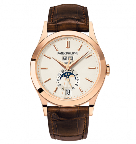 Brand New 100% Genuine PATEK PHILIPPE Annual Calendar Moonphase Rose Gold Silver 5396R-011 Watch
