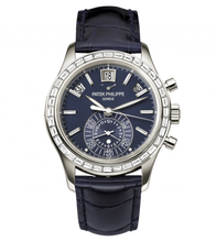 Load image into Gallery viewer, Authentic Patek Philippe Complications Annual Calendar Chronograph Platinum Blue 5961P-001 Limited Edition watch