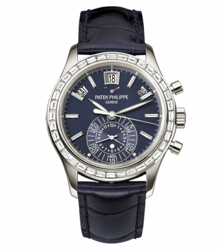 Brand New 100% Genuine PATEK PHILIPPE Annual Calendar Chronograph Platinum Blue 5961/01G-001 Watch (Limited Edition)