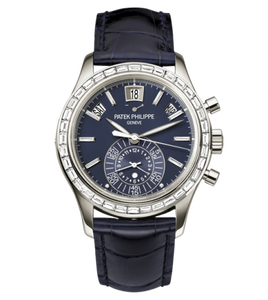 Authentic Patek Philippe Complications Annual Calendar Chronograph Platinum Blue 5961P-001 Limited Edition watch