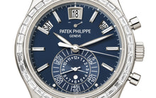Load image into Gallery viewer, Buy Sell Authentic Patek Philippe Complications Annual Calendar Chronograph 5961P at Time Galaxy Watch