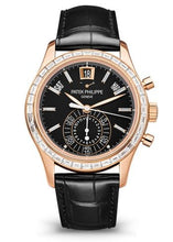 Load image into Gallery viewer, Brand New 100% Genuine PATEK PHILIPPE Complications Annual Calendar Chronograph Rose Gold Black 5961R-010 Watch (Limited Edition)