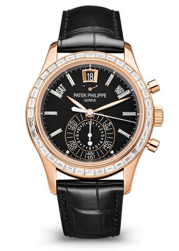 Brand New 100% Genuine PATEK PHILIPPE Complications Annual Calendar Chronograph Rose Gold Black 5961R-010 Watch (Limited Edition)