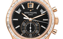 Load image into Gallery viewer, Brand New 100% Genuine PATEK PHILIPPE Annual Calendar Chronograph Rose Gold Black 5961R-010 Watch (Limited Edition)