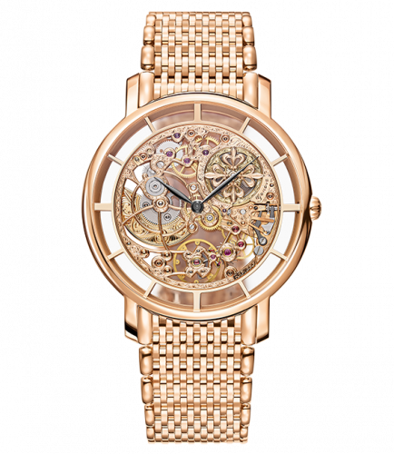 Brand New 100% Genuine PATEK PHILIPPE Complications Calatrava Rose Gold Skeleton 5180/1R Watch
