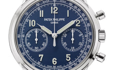 Load image into Gallery viewer, Brand New 100% Genuine PATEK PHILIPPE Complications Chronograph White Gold Blue 5172G-001 Watch