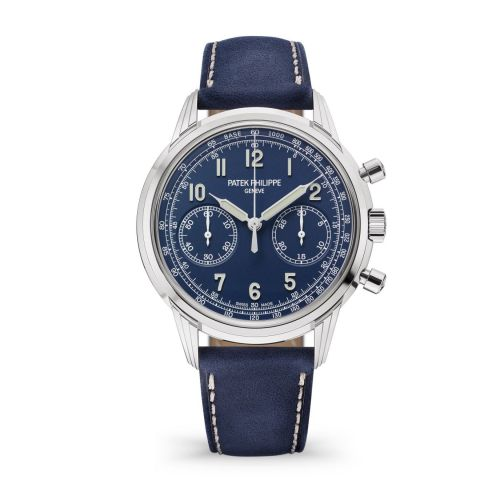 Brand New 100% Genuine PATEK PHILIPPE Complications Chronograph White Gold Blue 5172G-001 Watch